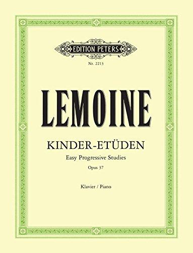 EDITION PETERS LEMOINE HENRY - 50 EASY PROGRESSIVE STUDIES OP.37 - PIANO Theorie und Pedagogik Klavier