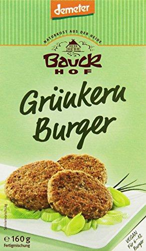 Bauckhof Grünkern-Burger Demeter, 6er Pack (6 x 160 g)