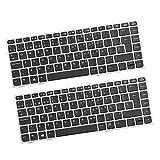 #N/A 2X Ersatz Laptop Tastatur Für EliteBook 8460p