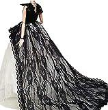 OurKosmos Superbe Main Fashion Party Gown Robes et vêtements de Mariage Poupée Accessoires pour poupée -1PCS(Noir)