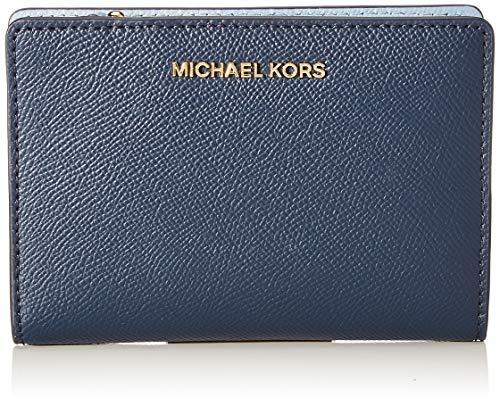 Michael Kors JET SET, MD CARD CSE CARRYALL Donna, NVY/WHT/PBLU, Small