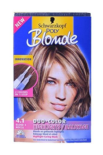 3 x Schwarzkopf Poly Blonde 4.1 Blond + Mocca Duo-Color Kehrmaschine blond und farbig
