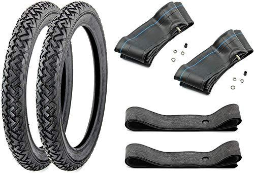 Reifen Set VRM 087 mit 2X Schlauch 2X Felgenband 2 1/4 x 16-2,25 (20x2,25) für Piaggio Ciao, Hercules, Simson Anhänger