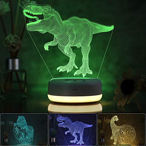 3D Dinosaur Night Light for Kids, 3 Patterns and...