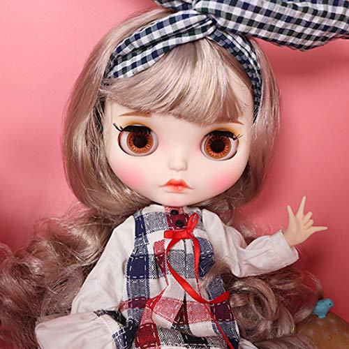 Mecotecn 1/6 BJD Doll ähnelt Blythe Doll, 19 Gelenke Ball Jointed Doll mit Make-up, Kleidung, 4 Farben Augäpfel, Hände, Schuhe