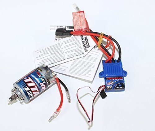 Traxxas ESC, XL-5 Speed Control and Brushed 3785 Titan 550 Motor 12T, for A Stampede, Stampede 4X4, Slash 2WD, RUSTLER 2WD