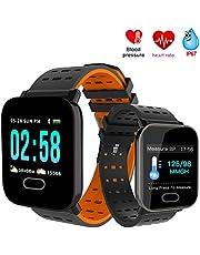 Fitness Activity Tracker, Slim Horloge Met Bloeddruk Gezondheid Bloed Zuurstof Hartslag Slaapmonitor Calorieteller, IP67 Waterdicht