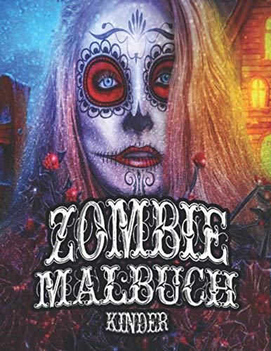 Zombie Malbuch Kinder: Happy Halloween gruselige Monster Malvorlagen für Kinder oder Erwachsene Entspannung und Stressabbau (auf einer Seite gedruckt ... Weihnachtsgeschenk für Jungen und Mädchen