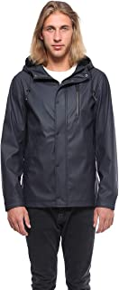 Rokka&Rolla Men's Waterproof Slicker Rain Jacket Anorak Windbreaker Trench Coat