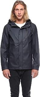 Men's Lightweight Waterproof Hooded Rubberized Raincoat...