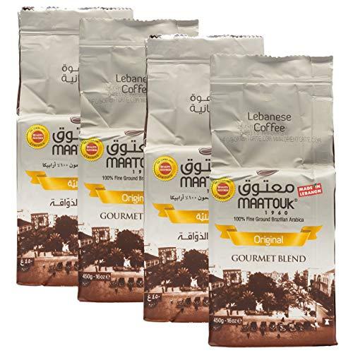 Maatouk - Arabischer Mokka Kaffee gemahlen im 4er Set à 450 g je Packung (1800 g)
