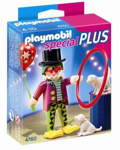 PLAYMOBIL Especiales Plus - Payaso con espectáculo de Perros, Set de Juego, 10 x 3,5 x 12,5 cm, (4760)