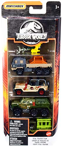 Matchbox 5 Pack Jurassic World Total Tracker Team