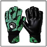 N-B Guantes de portero profesionales con protección de los dedos engrosados látex fútbol portero guantes portero