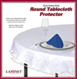 LAMINET Heavy-Duty Deluxe Crystal Clear Vinyl Tablecloth Protector 70' Round