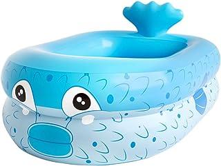 Piscina inflable- banera de peces- piscina familiar de 110 x 90 x 35cn- piscina de juguetes interior para el hogar-blue