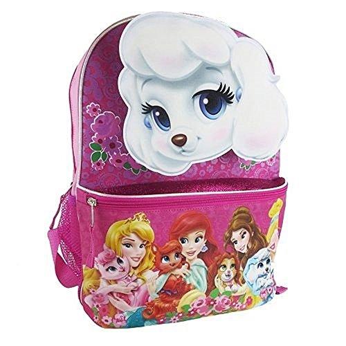 Disney Princess Palace Pets Pink Rucksack 38,1cm Vordertasche mit Reißverschluss