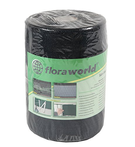 Floraworld 017275 Sicht-/ Wind- und Objektschutz Promotion HDPE-Gewebe, Anthrazit, 2050 x 17,5 x 24 cm