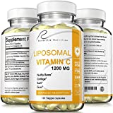 Rockville Nutrition Liposomal Vitamin C Capsules - Incredible Absorption - Immunity Booster- Rich in Antioxidants Natural VIT C Supplement - Buffered- Fat Soluble-Vegan Friendly Collagen Booster