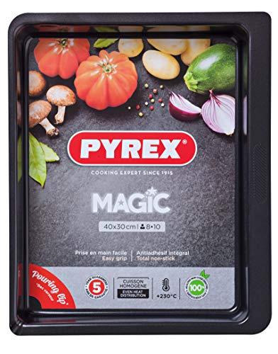 Pyrex Magic - Moule à four en acier inoxydable, noir