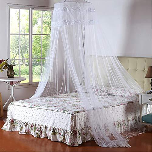 Mosquito Net Mosquitera Universal de Color Blanco con Diseño de Cúpula y Mosquitera de Fácil,White