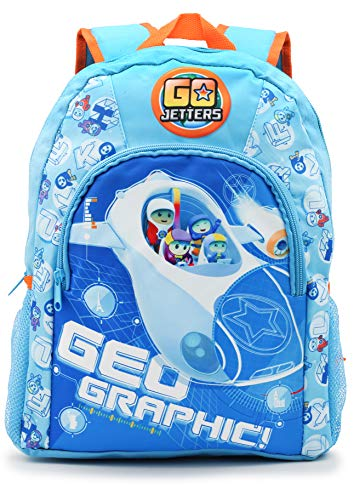 Go Jetters Cbeebies Rucksack Kinder | Backpack Kindergarten | BBC Kids Kinderrucksack | Kindergartentasche Für Jungen | Rucksack Für Jungen | Funktionrucksack Für Kinder und Mädchen