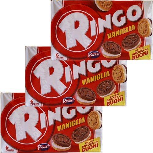 3x Pavesi Ringo Kekse Vaniglia 'Vanille', 330 g