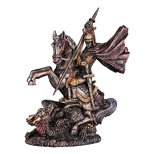 Pacific Giftware St.George Slaying The Dragon Classic Resin Figurine