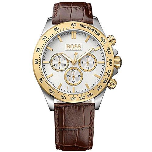 Hugo Boss Reloj Analógico para Hombre de Cuarzo con Correa en Cuero 1513174