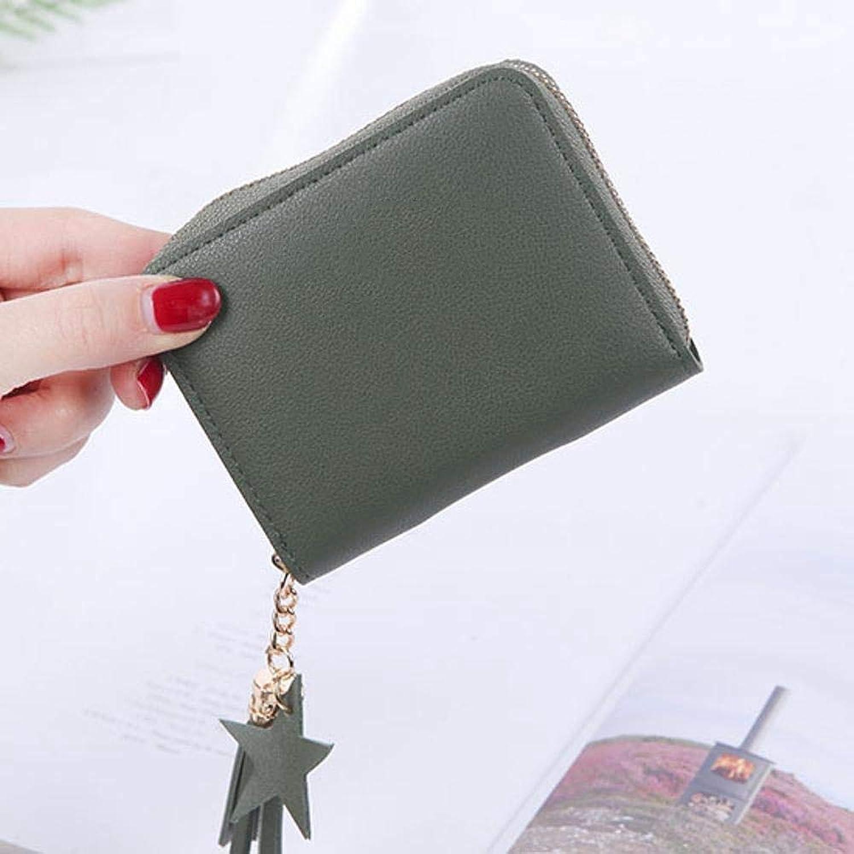Girls Purse Women's Wallet,Square Lady Purse Short Zip Zipper Small Clip Mini Wallet PU Leather (color   F)