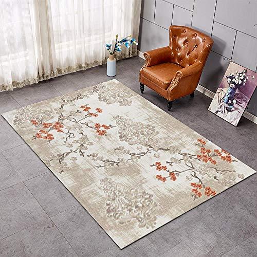 Alfombra para el salón o el hogar, simple y moderna, para dormitorio, rectangular, para lado de la cama, 1,4 x 2 m