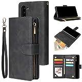 Dmtrab Phone Case for Samsung Galaxy Note10 Boîtier de portefeuille à fermeture à glissière,...