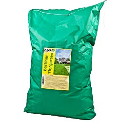 KAS - Berliner Tiergarten - 10 kg Lawn Mixture Seed Lawn Seed - Lawn grass for green areas at home and in the garden - robust and easy-care ornamental lawns
