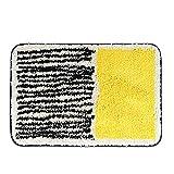Carttiya Felpudo Entrada Casa, Amarillo Negro 50x80 cm, Felpudo Lavable para Atrapar Suciedad, Alfombra Absorbente con Base Antideslizante, Exterior&Interior, Felpudo Divertido en Pasillo, Dormitorio