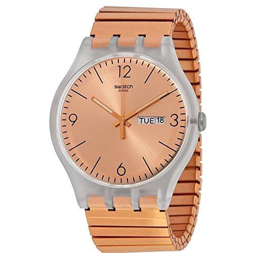 Swatch Rostfrei SUOK707 - Reloj de cuarzo suizo de oro rosa para hombre
