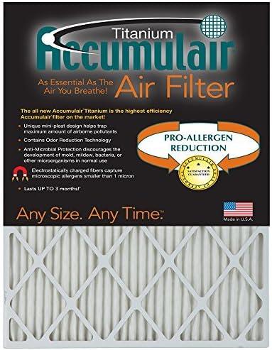 Free Shipping New Accumulair Titanium 24x24x1 23.38x23.38 High Allerg Efficiency Seattle Mall