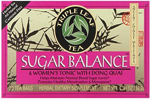 Triple Leaf Tea, Sugar Balance, 20 Tea Bags (Pack of 6)