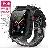 ShellBox YOGRE IP68 Waterproof Watch Case for 42MM, Full Sealed Waterproof iWatch Case with Anti-Scratch Screen Protector for 42mm iWatch Series 3 and 2, Package with 2 Soft Silicone Watch Band