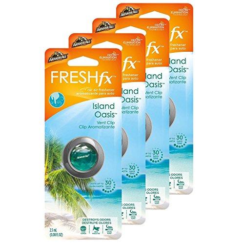 Armor All FRESHfx Car Air Freshener Vent Clip, 4-Pack (Island Oasis)