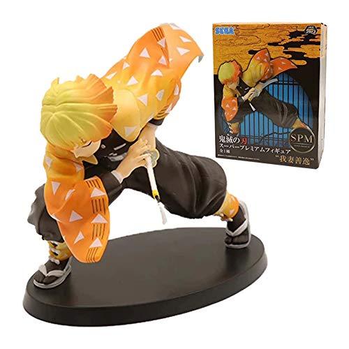 鬼滅の刃 我妻善逸フィギュア PVC製 人形 おもちゃ アクションフィギュア 150mm フィギュアモデル ギフト