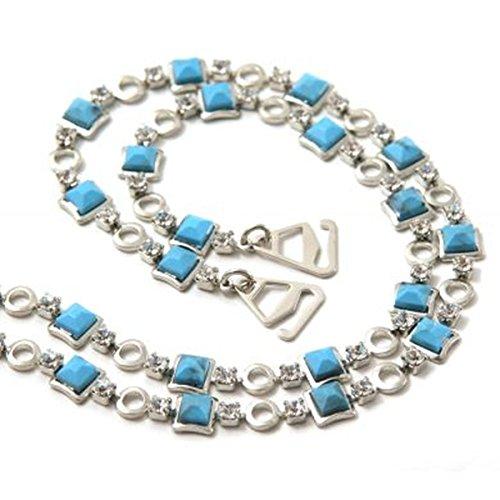 Einkaufszauber Schmuck BH Träger Griechisch Blau
