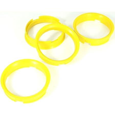 4x Zentrierringe 72 6 X 65 1 72 6 Auf 65 1 Gelb Auto