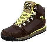 GUGGEN Mountain Pataugas Chaussures de Randonnee Chaussures Montantes Hiking Boots M010 Bottes et Boots Homme, Couleur Marron-Jaune, EU 46