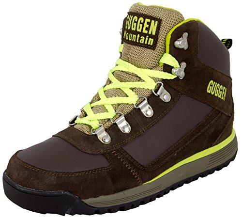 Guggen Mountain Herren Wanderschuhe Bergschuhe Outdoorschuhe Walkingschuhe Outdoor M010, Farbe Braun-Gelb, EU 43