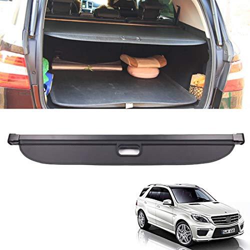 Auto Kofferraumschutz Abdeckung Shielding Security Panel Rollo Für Mercedes Benz ML W166 ML320 ML350 ML400 500 2013-2017, Schwarz Einziehbarer Hinterer Kofferraum Aufbewahrung Paketregal, Autozubehör