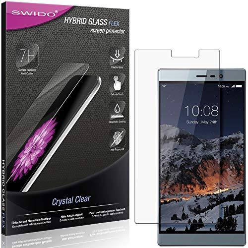SWIDO Panzerglas Schutzfolie kompatibel mit Switel eSmart M3 Bildschirmschutz-Folie & Glas = biegsames HYBRIDGLAS, splitterfrei, Anti-Fingerprint KLAR - HD-Clear