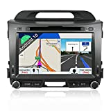 BXLIYER Android 9.0 Autoradio Compatible para Kia Sportage 2010-2015 Coche Navegacion GPS Soporta Bluetooth SWC WLAN Mirror-Link DAB+ |2 Din 7 pulgadas 2G+32G Octa Core |LIBRE Cámara trasera & Canbus