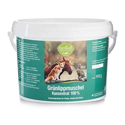 tierlieb Grünlippmuschel-Konzentrat 100% - 900 Gramm Einzelfuttermittel für Pferde, Hunde, Katzen
