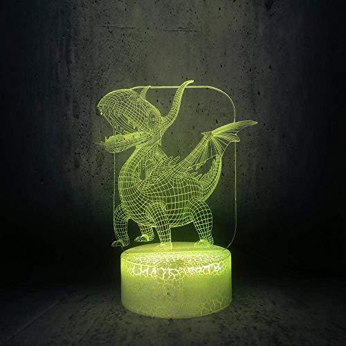 Linterna Mágica 3D Luz De Noche Led Pterodáctilo Lindo Bebé Dinosaurio Lámpara De Mesa Regalos Para Niños Mejores Regalos De Vacaciones De Cumpleaños Para Niños