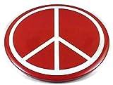Chic 3 en 1 signo de la paz, botón jumbo rojo de 3.75 pulgadas, venta de liquidación, solo 1 izquierda